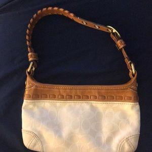Coach cream small purse